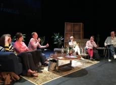 Debat amateurkunsten, Antwerpen 27 april '18 (Manuela Van Werde, 3de van rechts) - foto FAMEUS vzw