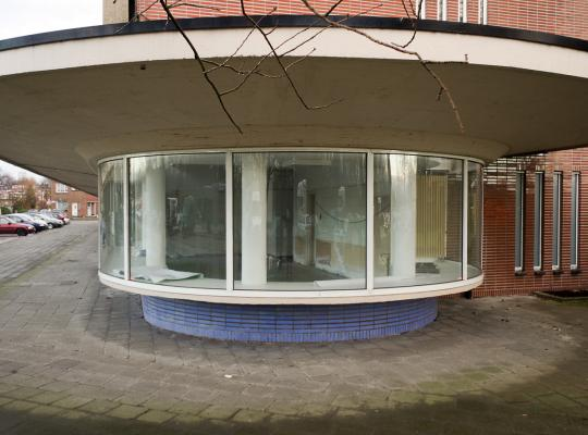 Detail de 'potenblokken' van architect Renaat Braem (Kiel, Antwerpen)